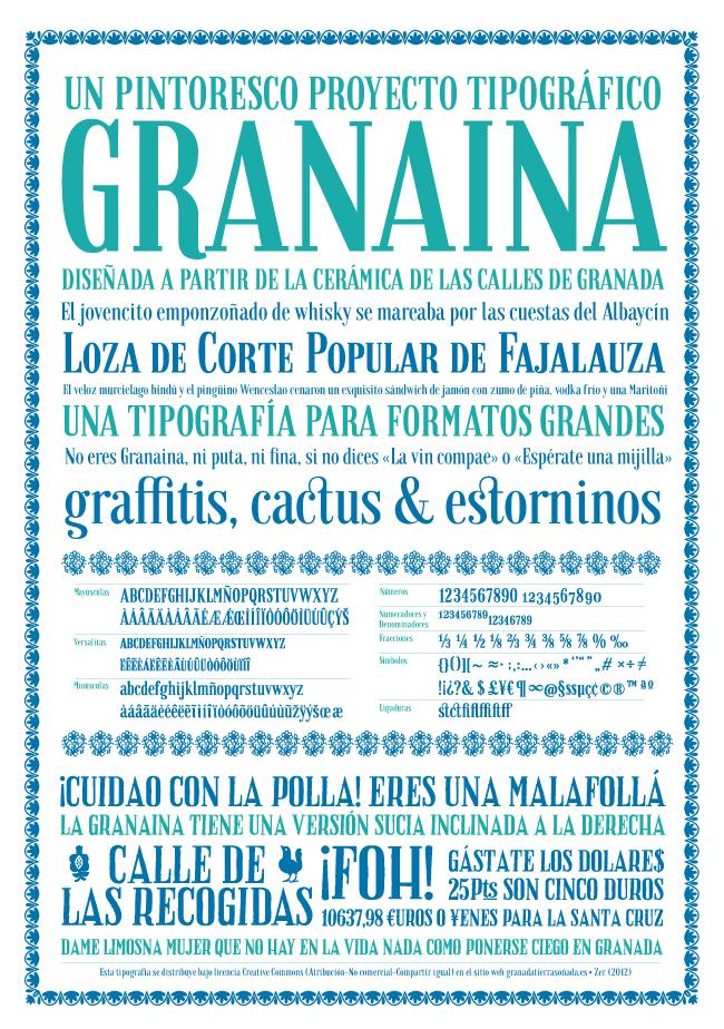 Granaina, proyecto tipográfico