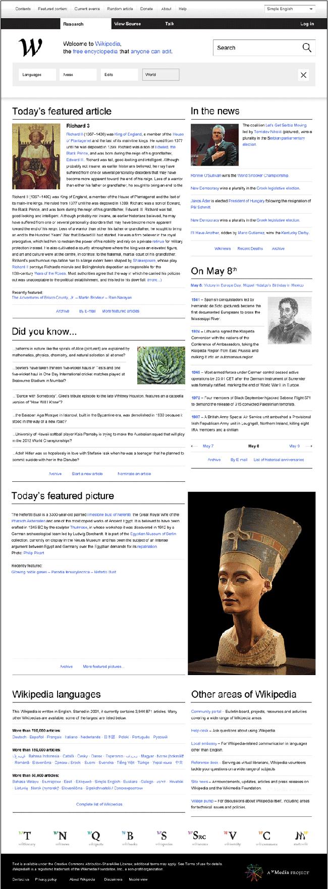 Rediseño web Wikipedia